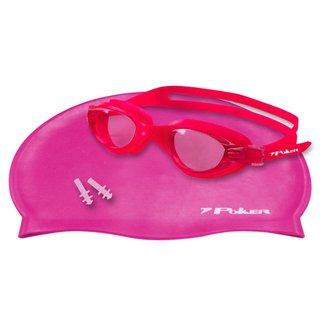 Kit Poker Óculos + Touca + Protetor de Ouvido de Natação Navagio