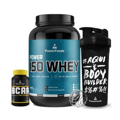 Kit Power Iso Whey Pote + PowerBCAA + Coqueteleira