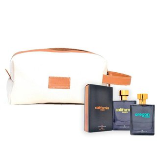 Kit Presente: 2 Perfumes Masculino Longa Duração e Ganhe Necessarie Lona