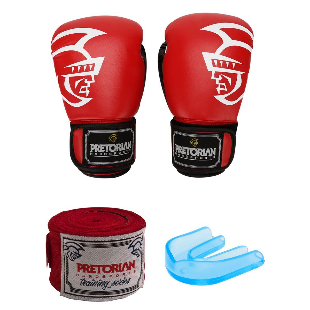 865540109 Kit Pretorian Luva de Boxe Muay Thai Trainning 16 oz + Bandagem Elástica 3m  + Protetor Bucal - Compre Agora