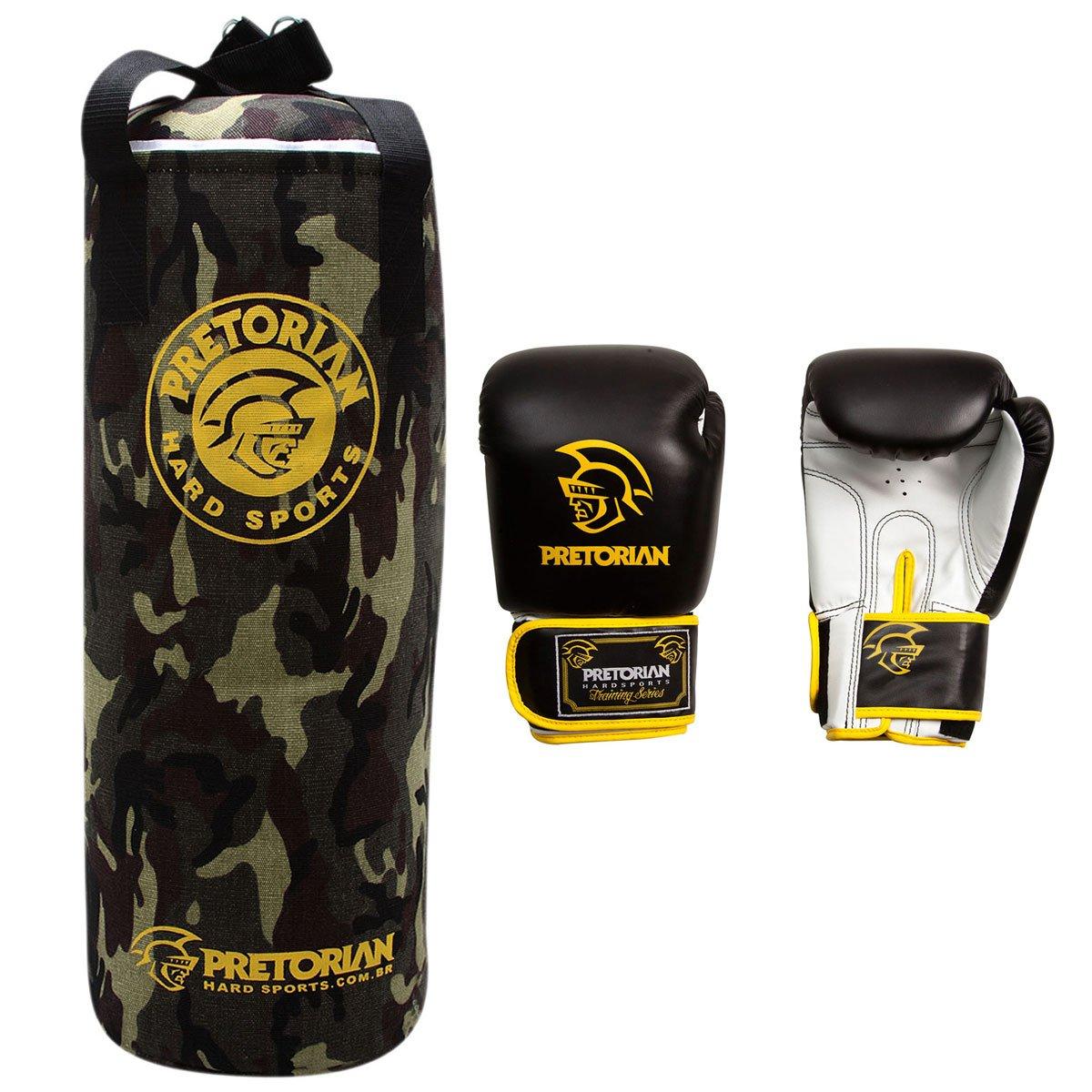 Kit Pretorian - Saco de Pancadas Camuflado 71 x 30 cm + Luva de Boxe Muay  Thai 12 oz - Compre Agora  4cea7f109dd