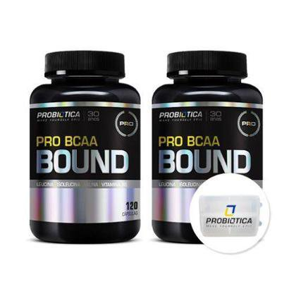 Kit Pro BCAA Bound 120 Cápsulas + Porta Cáps – Probiótica