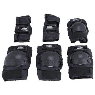 Kit Proteção Patins E Skate Preto Mormaii - M