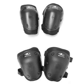 Kit Proteção Skate/Patins com Joelheira e Cotoveleira Juvenil