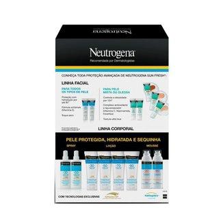 Kit Protetor Solar Corporal Neutrogena Sun Fresh FPS70 200ml + Neutrogena Facial FPS70 40g