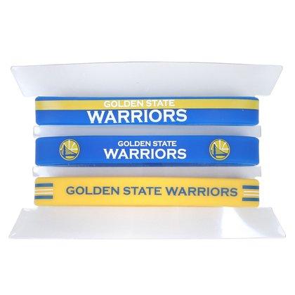 Kit Pulseira NBA Golden State Warriors c/ 3 Unidades