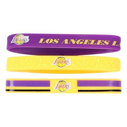 Kit Pulseira NBA Los Angeles Lakers c/ 3 Unidades