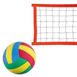 Kit Rede Vôlei Evo Sports Especial 5m + Bola