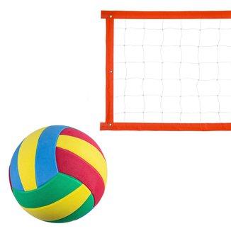 Kit Rede Vôlei Evo Sports Especial 7m + Bola