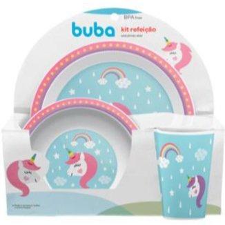 Kit  Refeição Unicornio Star Buba Baby
