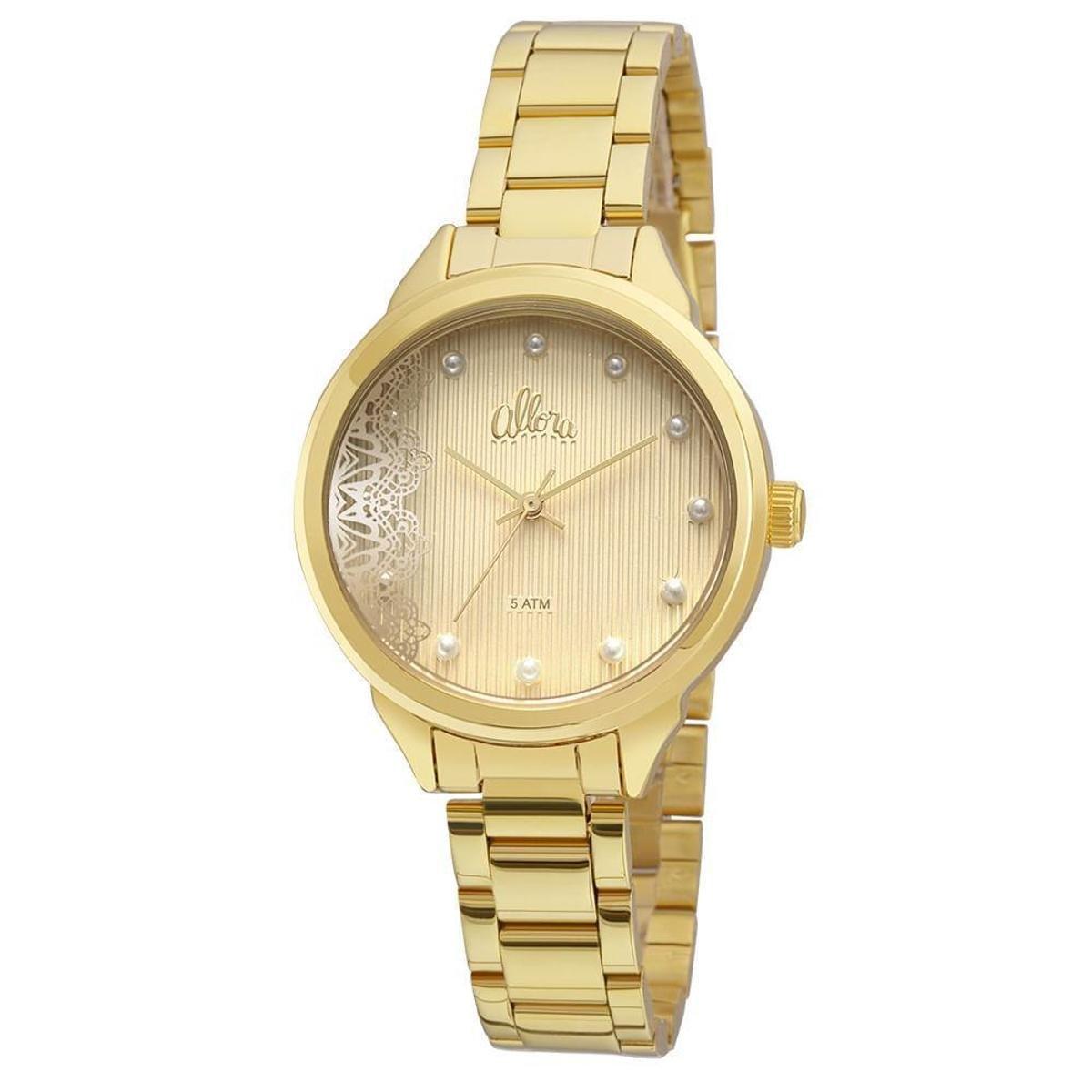Kit Relógio Allora Feminino Listras e Rendas - Compre Agora   Netshoes 98dab30d9e