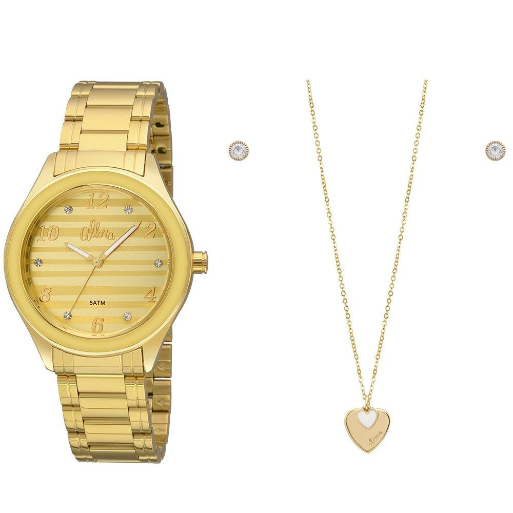 4cee21e8a205e Kit Relógio Allora Feminino Soft Colors - Compre Agora