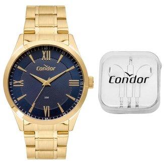 Kit Relógio Condor Casual Dourado COPC21AEEPK4A Masculino