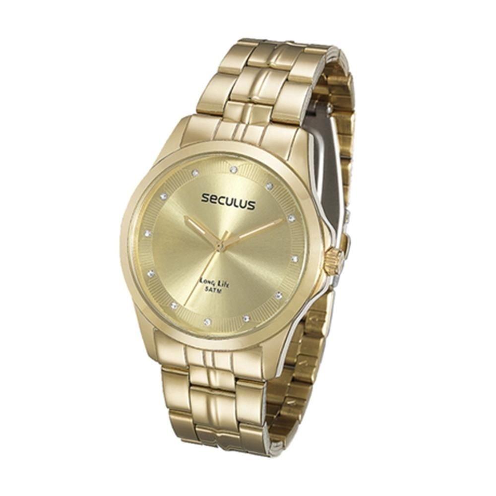 b7b1ff452f6 Kit Relógio Feminino Seculus Analógico Colar E Brincos - Compre Agora
