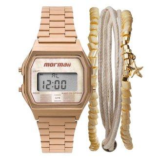 Kit Relógio Mormaii Vintage MOJH02AT/K4J + pulseira