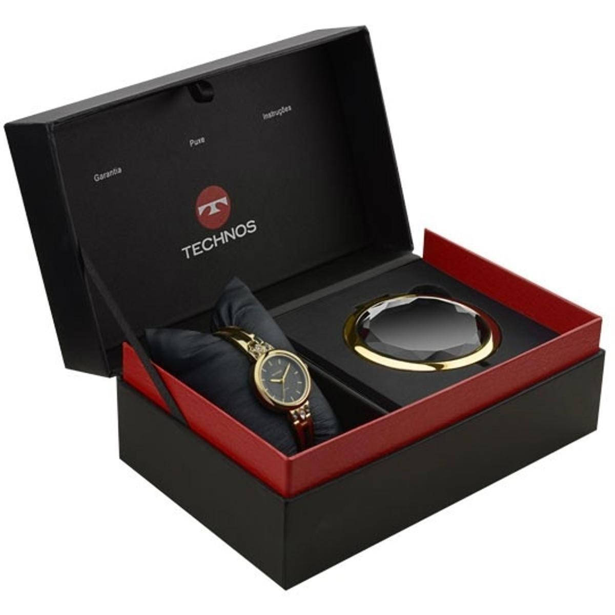 a68377a06ec Kit Relógio Technos Feminino Elegance Mini 2035Mcd K4P - Compre ...