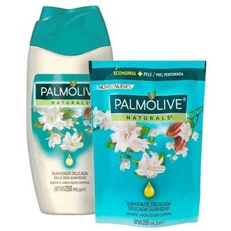 Kit Sabonete Líquido Palmolive Naturals Suavidade Delicada 250ml + Refil