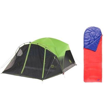 Kit Saco de Dormir Fiesta Sem Capuz e Barraca para 6 Pessoas Carlsbad Luz Confort