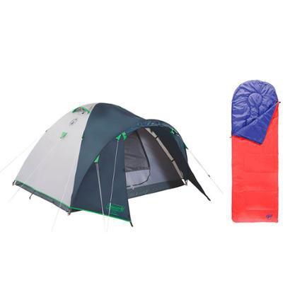 Kit Saco de Dormir Fiesta Sem Capuz e Barraca para 6 Pessoas com Sistema WeatherTec