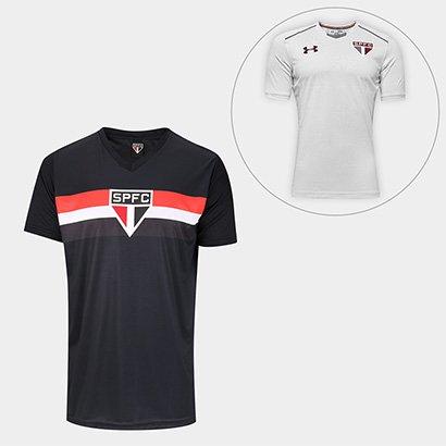 Kit São Paulo Camisa Goleiro 2005 S n° + Camisa De Treino 17 18 Under Armour  Masculino fd114adad77bd