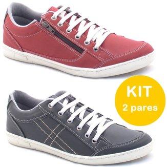 Kit Sapatenis Dexshoes Com Ziper