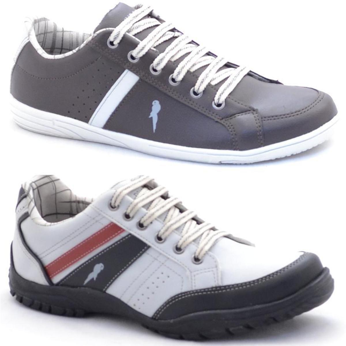 d16cb89dfb1 Kit Sapatênis Polo Blu Casual Masculino - Cinza e Branco - Compre Agora