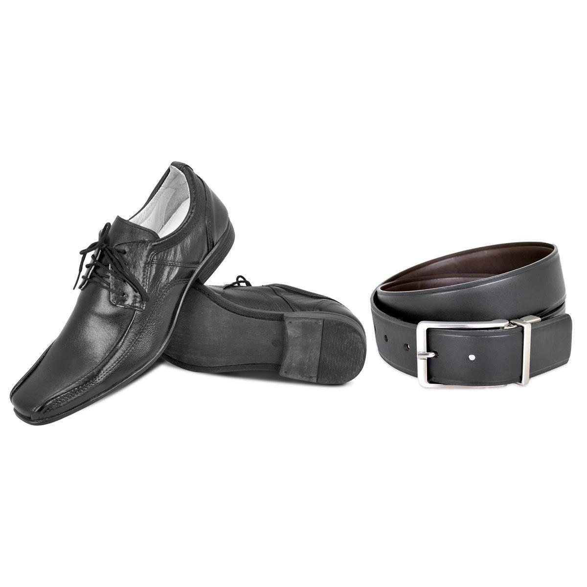 Kit Face 1 Em Cinto Masculino Sapato E 2 Preto Dupla 7nqrZ7HW