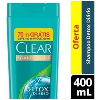 Kit Shampoo Clear Anticaspa Detox 6x 400ml