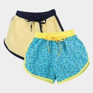 Kit Short Infantil Candy Kids 2 Peças Feminino