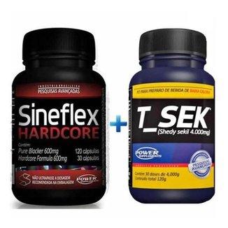 Kit Sineflex Hardcore 150 Caps + TSek 120g  Power Supplements