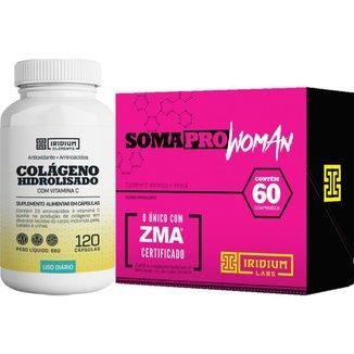 Kit Soma Pro Woman + Colágeno Hidrolisado c/ Vitamina C
