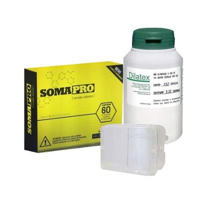 Kit Somapro 60 Comp. + Dilatex 152 Cáps – Power Supplements + Porta Cápsula