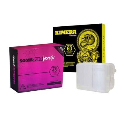 Kit Somapro Woman 45 Comp. + Kimera 60 Comp + Porta Cápsula
