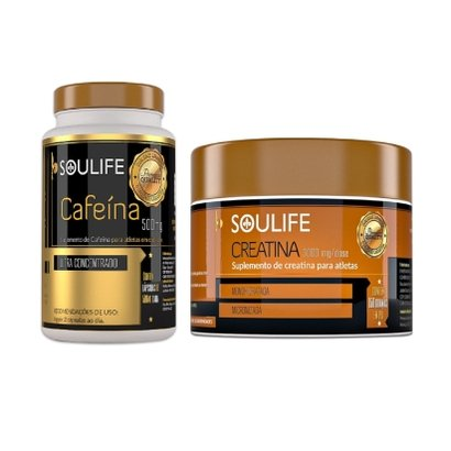 Kit Soulife Cafeína 120 Cáps + Creatina 150g