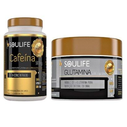 Kit Soulife Cafeína 120 Cáps + Glutamina 150g