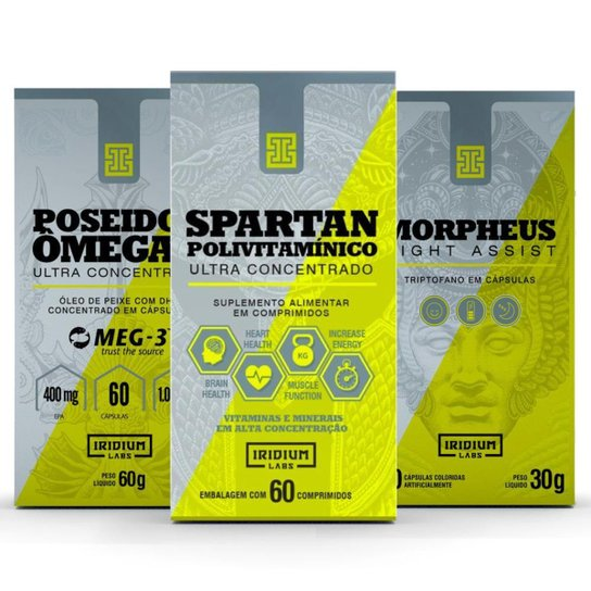 Kit Spartan Polivitaminico + Morpheus + Poseidon Ômega 3 -