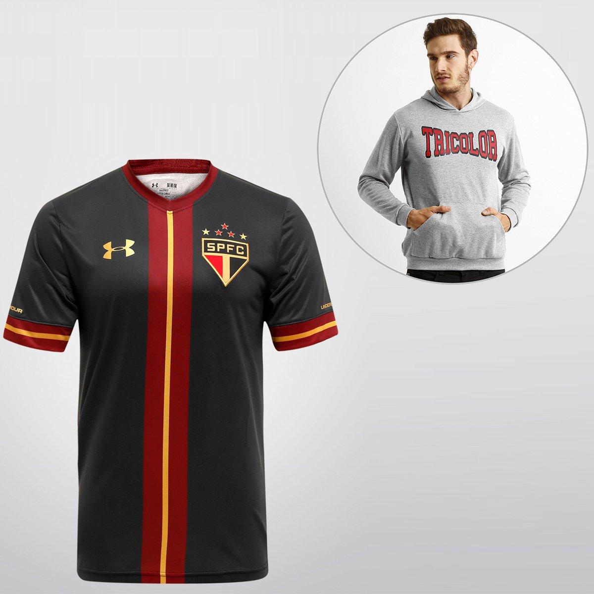 b0cdde069d8 Kit SPFC - Camisa Under Armour São Paulo III 15 16 s nº + Blusão College -  Compre Agora