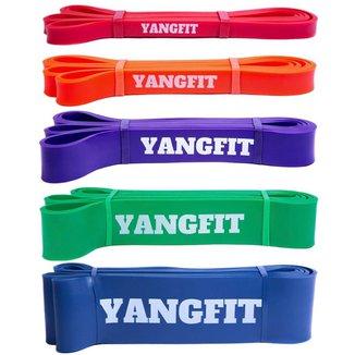 Kit Super Band Extensor Elástico 5 Intensidades Yangfit