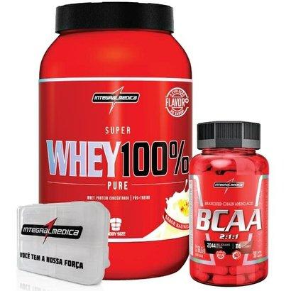 Kit – Super Whey 100% + Bcaa + Porta Caps – Integralmédica