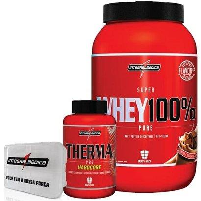 Kit - Super Whey 100% + Therma Pro HardCore + Porta Caps - Integralmédica