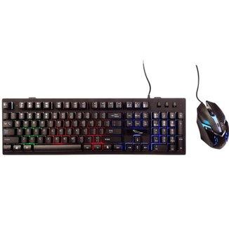 Kit Teclado e Mouse Gamer com Fio