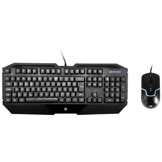 Kit Teclado e Mouse Gamer HP GK1000 - Preto