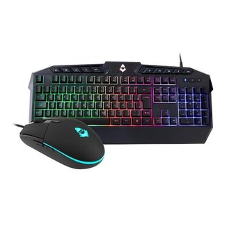 Kit Teclado e Mouse Mancer MCR212 Rainbow RGB, MCR-212-KIT01