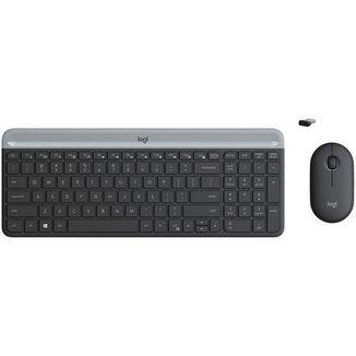 Kit Teclado e Mouse sem Fio Logitech MK470