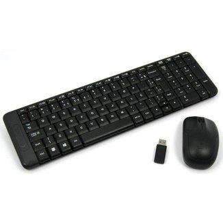 Kit Teclado + Mouse Sem Fio Mk220