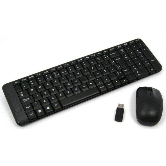 Kit Teclado + Mouse Sem Fio Mk220 - Preto