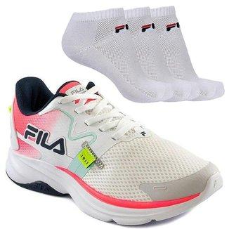 Kit Tênis Fila Racer Motion Feminino + 3 Pares de Meia