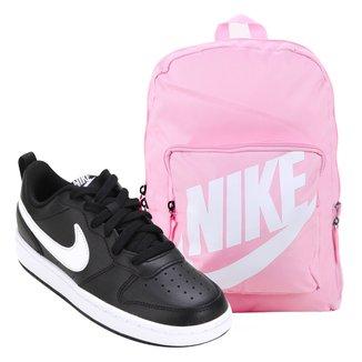 Kit Tênis Infantil Nike Court Borough Masculino + Mochila Nike Classic 16 L