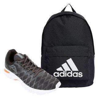 Kit Tênis Kappa Impact 2 Masculino + Mochila Adidas Classic