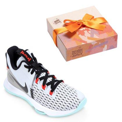 Kit Tênis Nike Lebron Witness V + Caixa de Bombom c/ 9 unidades
